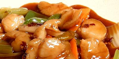 Scallops in Szechuan Sauce Chinese Food
