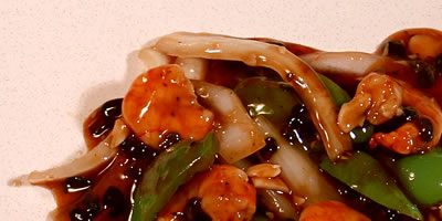 Shrimp with Green Pepper and Black Bean Sauce Chinese Food